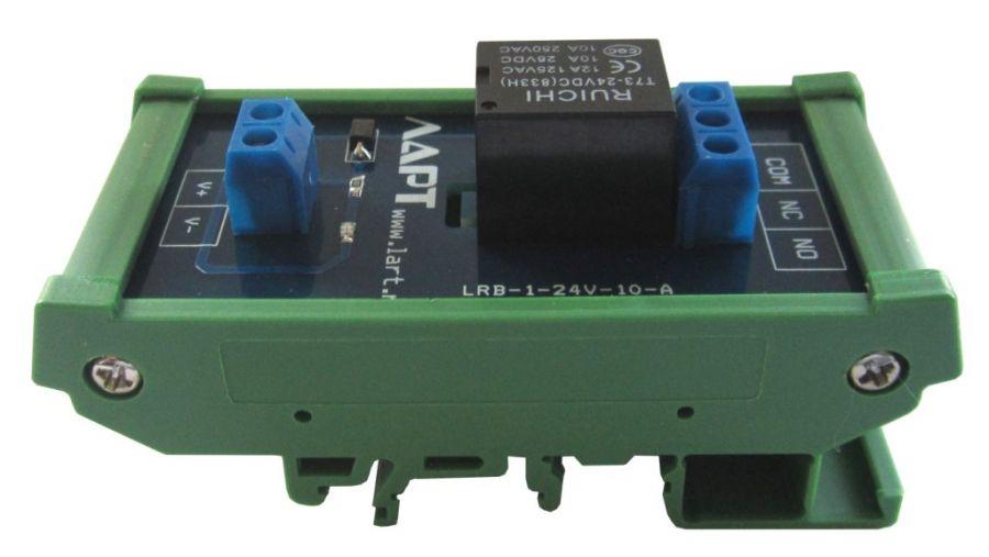 Выносной блок реле на DIN рейку LRB-1-24V-10-A
