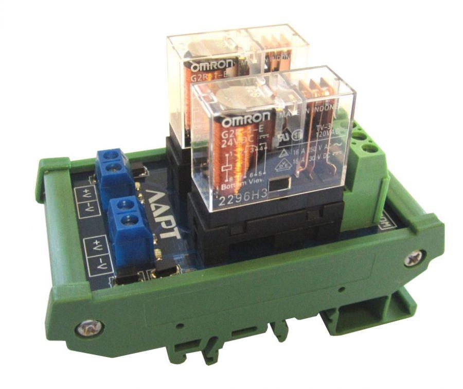 Выносной блок реле на DIN рейку LRB-2-24V-16-A