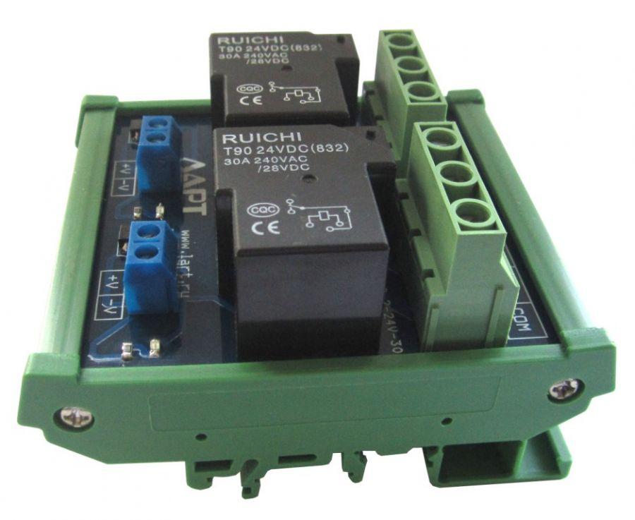 Выносной блок реле на DIN рейку LRB-2-24V-30-A
